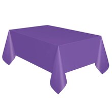 "Plastic Neon Purple Tablecloth, 108"" x 54"""